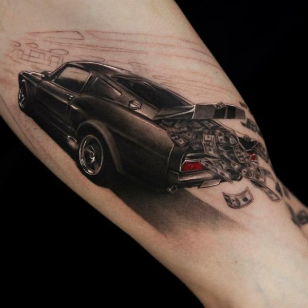 3d tattoos auto geld
