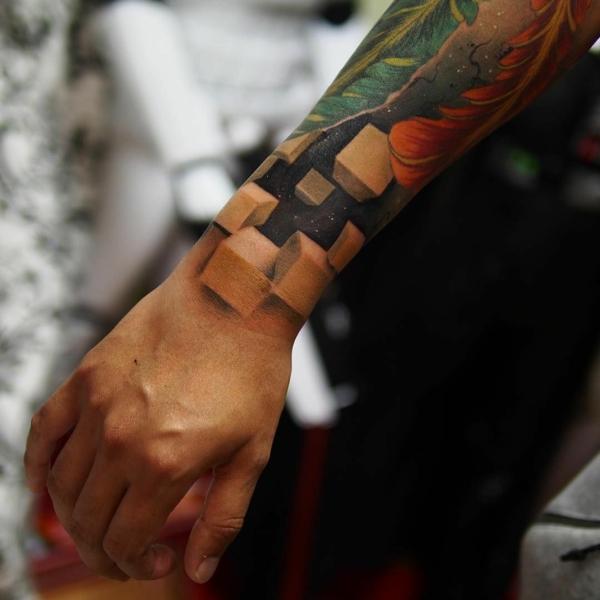 3d tattoos bunt unterarm tätowierung