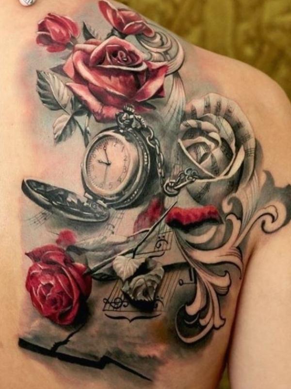 Tattoo rücken frauen Löwenkopf Tattoo