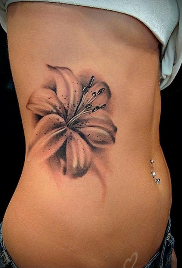 3d tattoos lilium damen seitlich