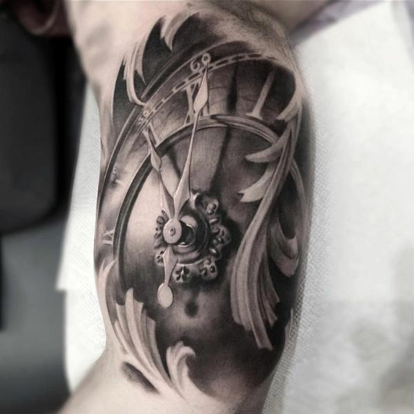 Männer arm uhr tattoo 90 Cool