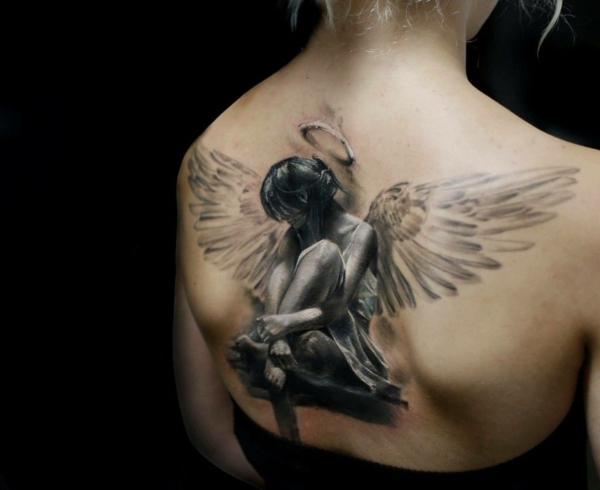 3d tattoos rücken engel