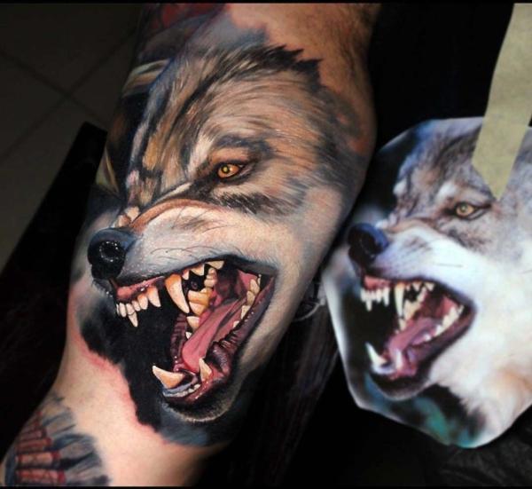 3d tattoos realistisch wolf