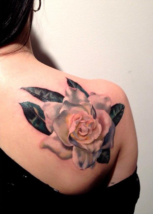 3d tattoos schulter rose damen tätowierung