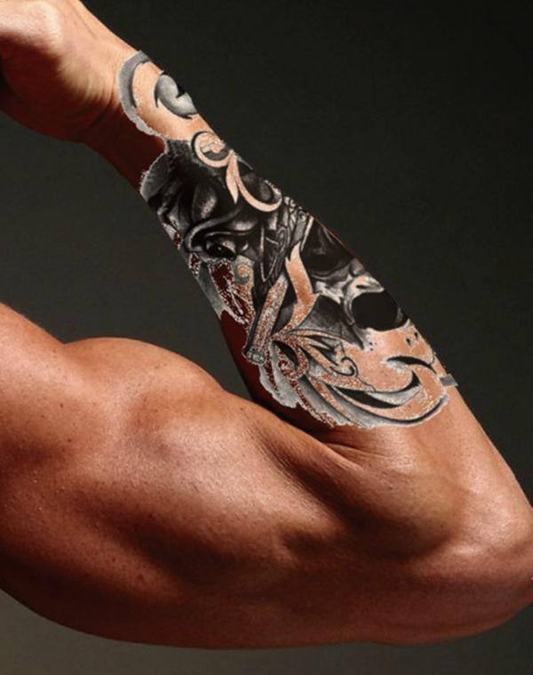3d tattoos unterarm biomechanik