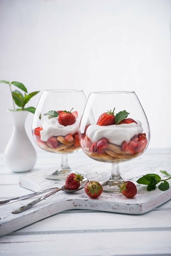 Erdbeer-Tiramisu im Glas Erdbeeren Sommerfrüchte