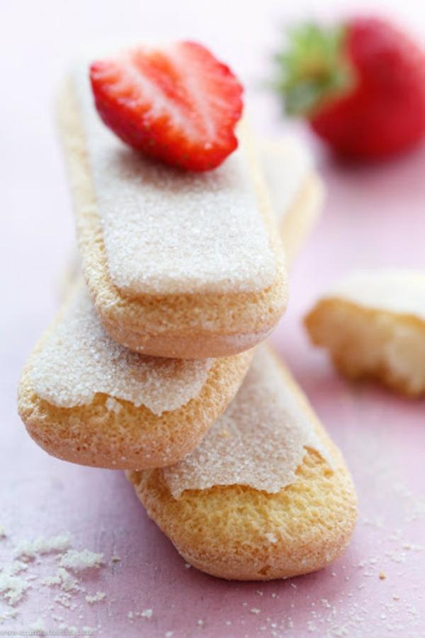 Erdbeer-Tiramisu im Glas Löffelbiskuits