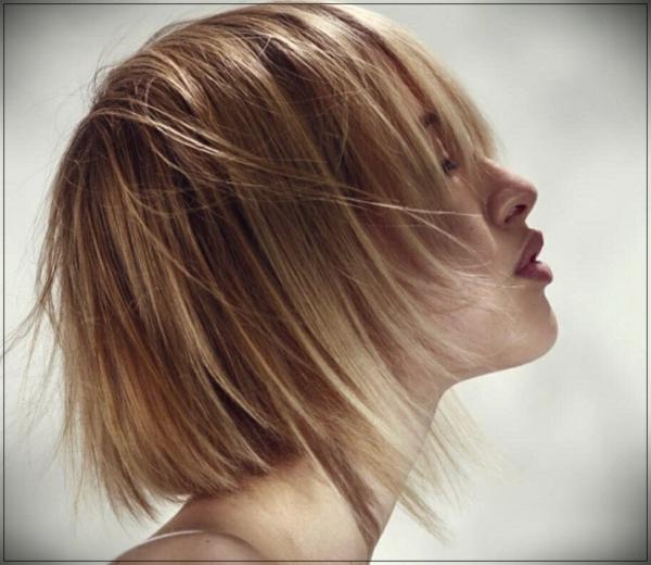 Frisuren für schmale Gesichter Haartrends 2021 Kurzhaarfrisur