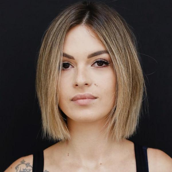 Frisuren für schmale Gesichter Haartrends Kurzhaarschnitt