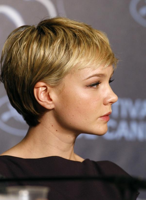 Frisuren für schmale Gesichter Haartrends Pixie Schnitt
