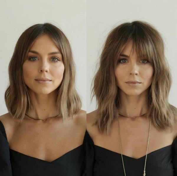 Frisuren für schmale Gesichter Haartrends Ponyfrisuren