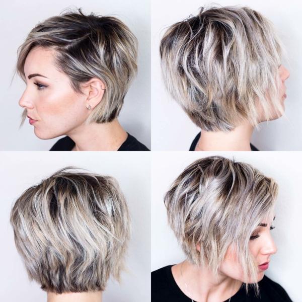 Frisuren für schmale Gesichter Pixie Haartrends