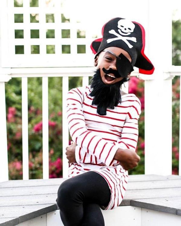 Piratenhut basteln mit Kindern – coole Ideen für Ihre nächste Kostümparty blackbeard kostüm originell
