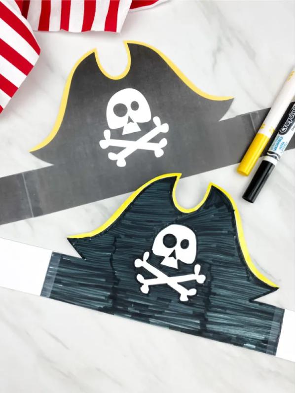 Piratenhut basteln mit Kindern – coole Ideen für Ihre nächste Kostümparty piraten kostüm hut cool