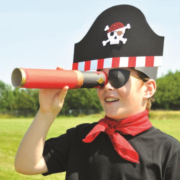Piratenhut basteln mit Kindern – coole Ideen für Ihre nächste Kostümparty piraten kostüm kinder party