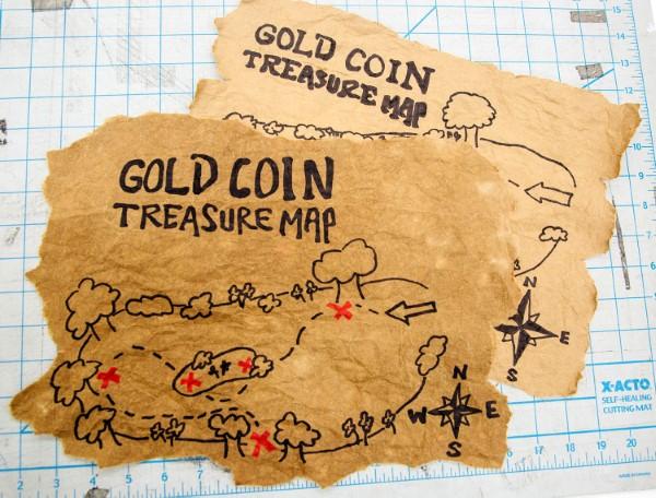 Schatzkarte basteln – kreative Ideen für Ihre nächste Piratenparty fertige piraten karten diy