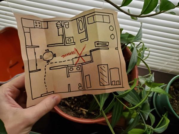 Schatzkarte basteln – kreative Ideen für Ihre nächste Piratenparty ideen für zuhause karte diy