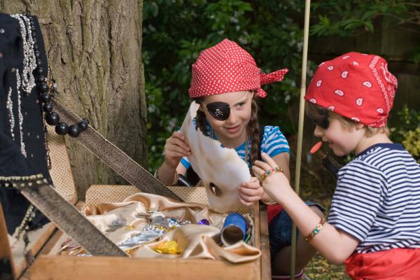 Schatzkarte basteln – kreative Ideen für Ihre nächste Piratenparty kinder spiele suchen schatz