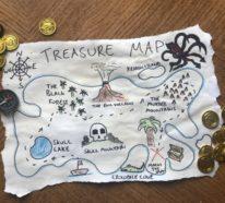 Schatzkarte basteln – kreative Ideen für Ihre nächste Piratenparty