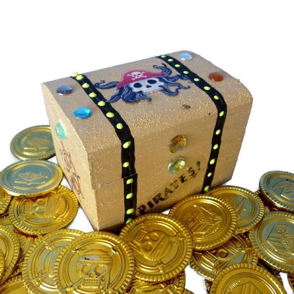 Schatzkiste basteln mit Kindern – lustige Ideen und Anleitung für Ihre Piratenparty mini schatz box truhe