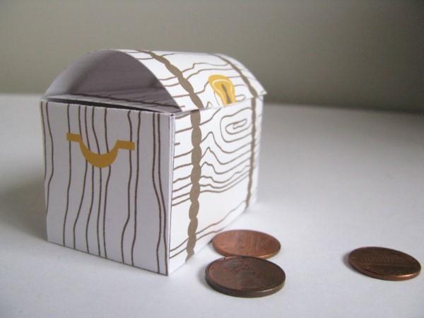 Schatzkiste basteln mit Kindern – lustige Ideen und Anleitung für Ihre Piratenparty papier origami schatztruhe