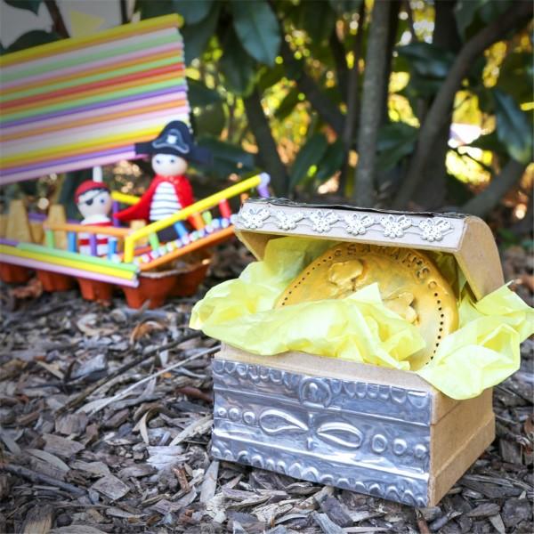 Schatzkiste basteln mit Kindern – lustige Ideen und Anleitung für Ihre Piratenparty schatztruhe selber machen