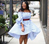 Schlankmachende festliche Kleider – optische Täuschungen, die Sie schlanker machen