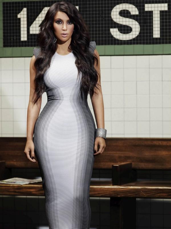 Schlankmachende festliche Kleider – wie optische Täuschungen Sie schlanker machen können kardashian kleid sanduhr