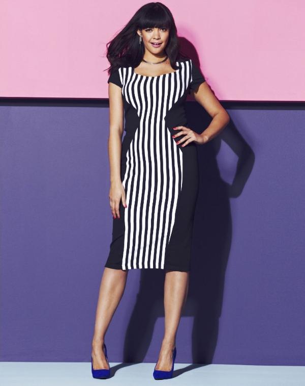 Schlankmachende festliche Kleider – wie optische Täuschungen Sie schlanker machen können sanduhr körper elegant korsett täuschung