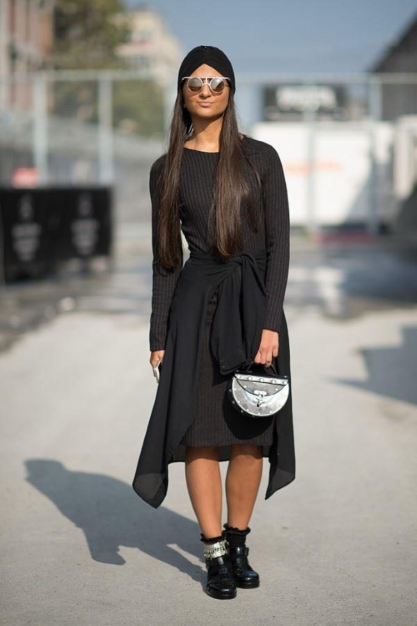 Schlankmachende festliche Kleider – wie optische Täuschungen Sie schlanker machen können schwarze kleider modern
