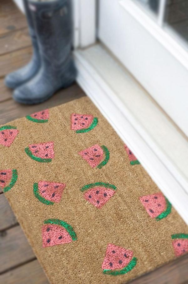 Schnelle Bastelideen für den Sommer – kinderleichte Ideen zum Inspirieren und Nachmachen fußmatte wassermelone diy