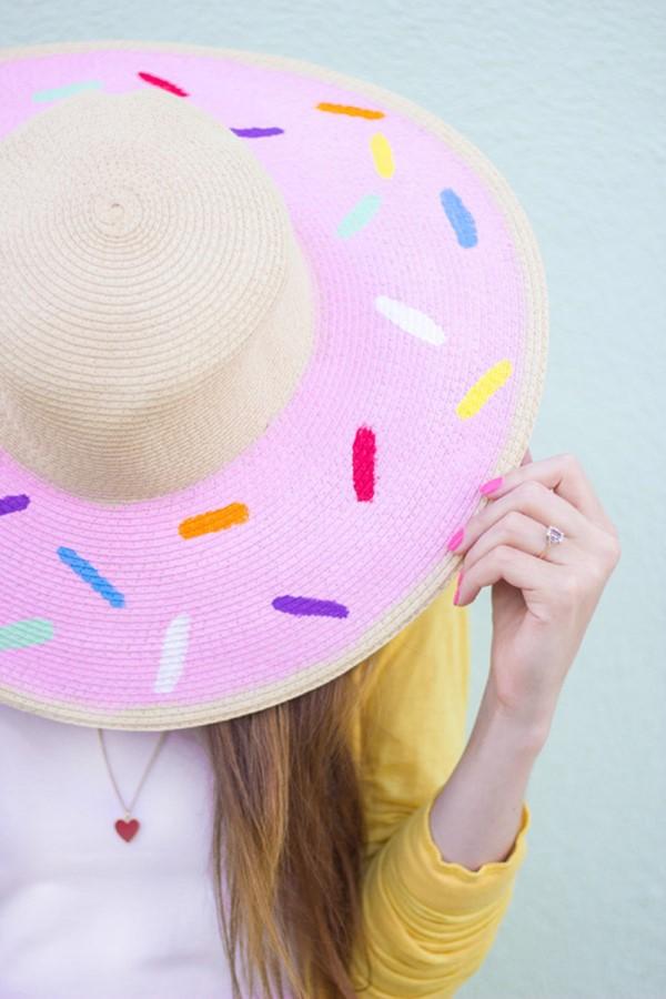 Schnelle Bastelideen für den Sommer – kinderleichte Ideen zum Inspirieren und Nachmachen sonnenhut bemalen donut