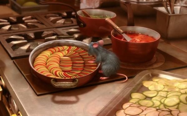 Sommerliches Ratatouille Rezept wie aus dem Pixar Film remy zubereitet gericht im film