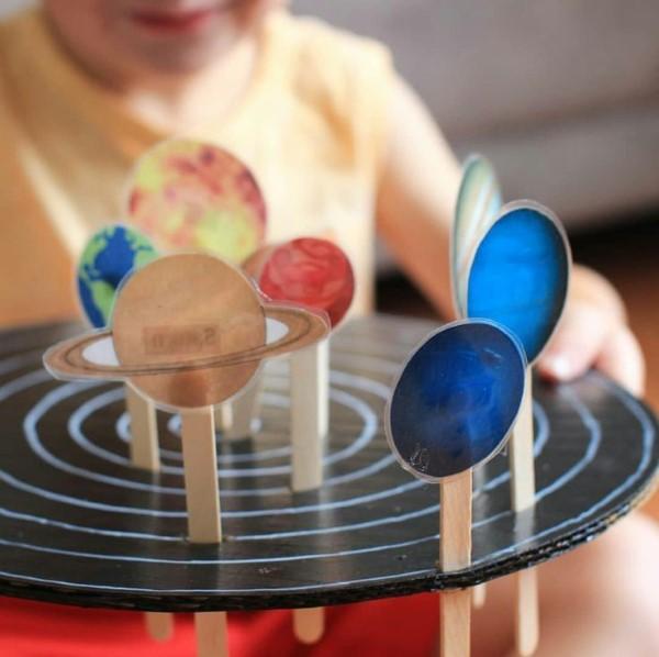 Sonnensystem basteln – kinderleichte Ideen, Anleitung und Wissenswertes über die Planeten deko ideen kinder