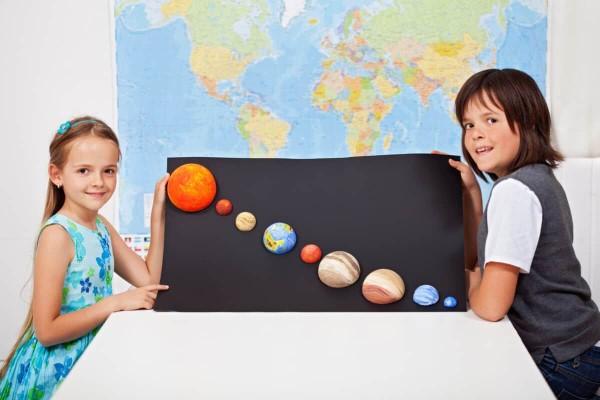 Sonnensystem basteln – kinderleichte Ideen, Anleitung und Wissenswertes über die Planeten kinder schüler projekt