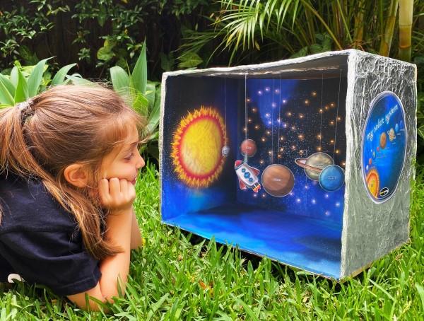 Sonnensystem basteln – kinderleichte Ideen, Anleitung und Wissenswertes über die Planeten schachtel schule projekt diy