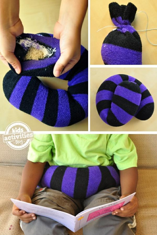 Spielzeug basteln mit Socken Gürtel selber machen