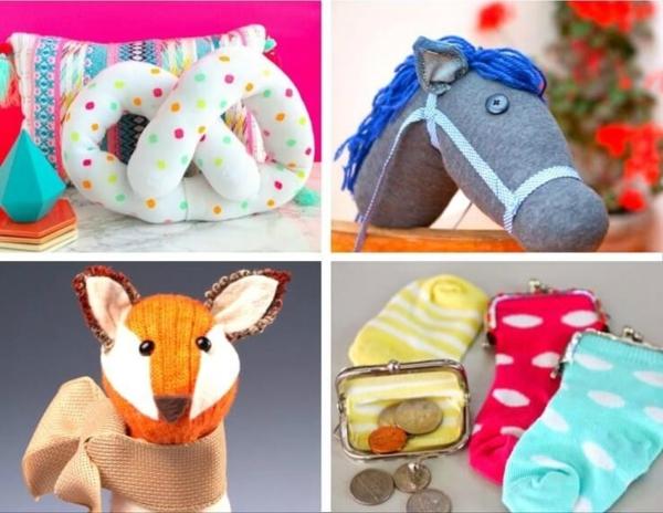 Spielzeug basteln mit Socken Kreativität fördern
