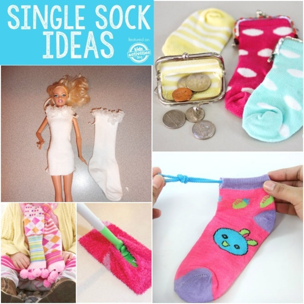 Spielzeug basteln mit Socken Spielen mit Socken Ideen
