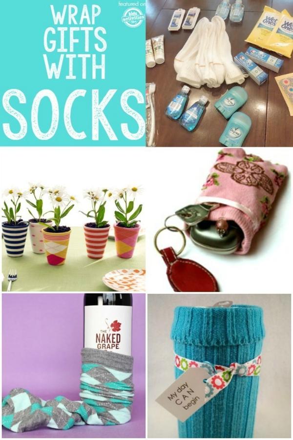 Spielzeug basteln mit Socken Verpackungsideen mit Socken