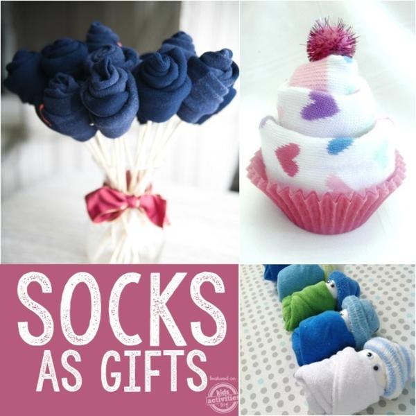 Spielzeug basteln mit Socken kreative Geschenkideen mit Socken