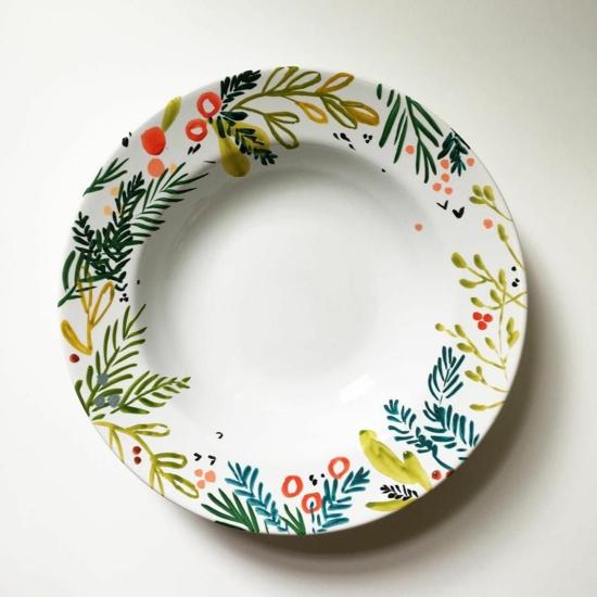 Teller bemalen florale motive