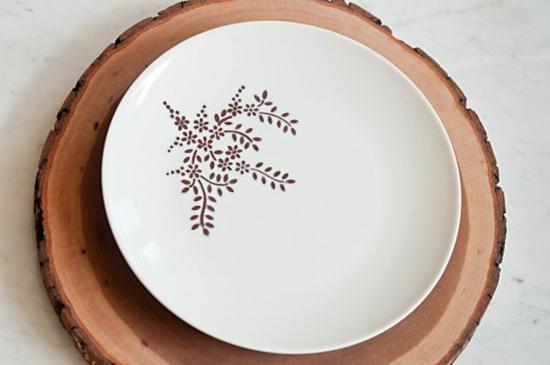 Teller bemalen minimalistisch rustikal