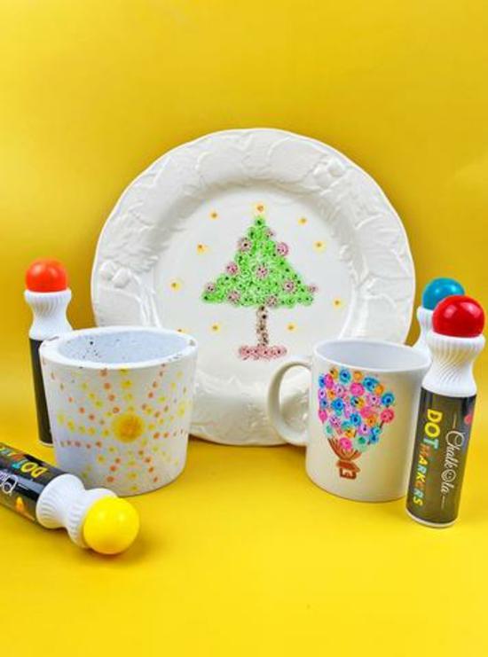 Teller bemalen weihnachten geschenkideen