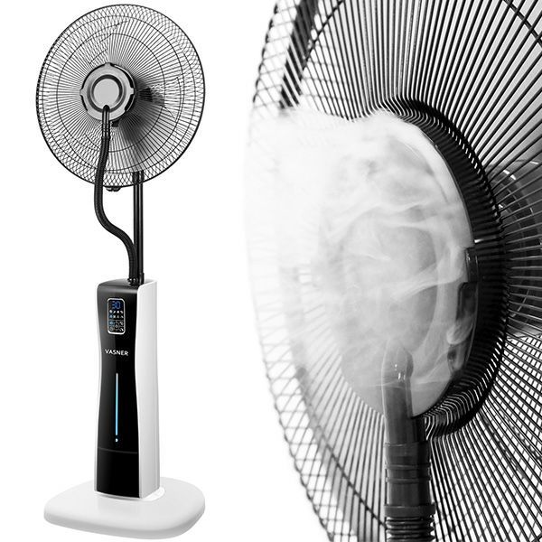 VASNER Cooly Stand-Ventilator mit Wasser Kühlung, Fernbedienung, Timer
