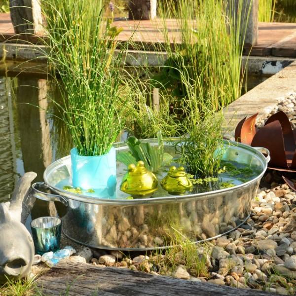 Zinkwanne dekorieren – Ideen und Tipps für eine rustikale Gartendeko gartenteich beet schöne deko