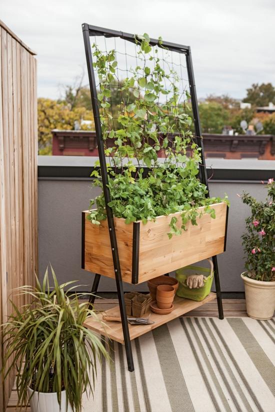 balkon rankhilfe selber bauen