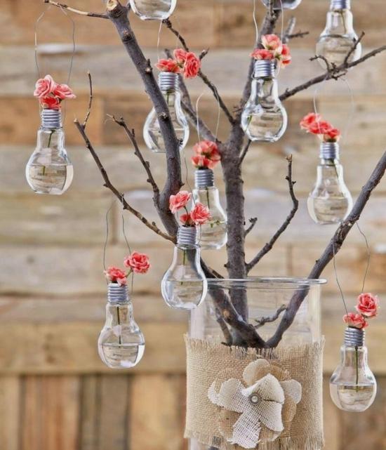 bastelideen für erwachsene mit alten glühbirnen