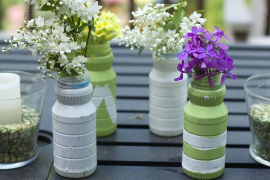 bastelideen für erwachsene sommerbasteln vasen