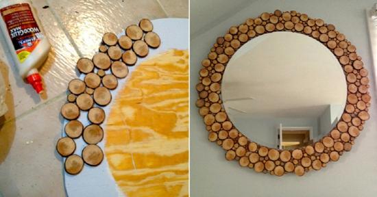 bastelideen für erwachsene spiegel dekorieren